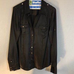 WhiteHouse/BlackMArket sz 12 Silk Stretch Shirt